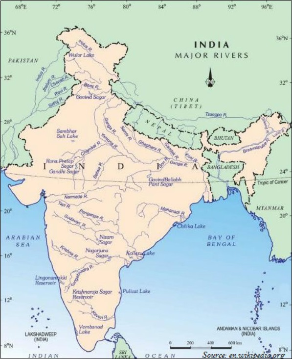 Geography India - Drainage System - Tutorialspoint