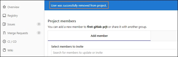 GitLab - Remove Users - Tutorialspoint