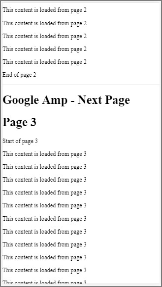 Amp Next Pages