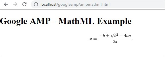 Example Mathml
