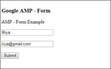 Google Amp Forms
