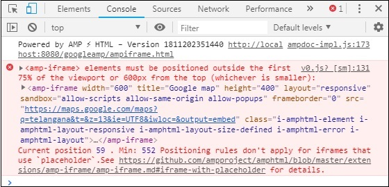 Google placed Iframe