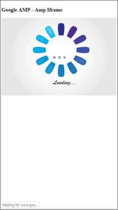 Google AMP - Iframes - Tutorialspoint