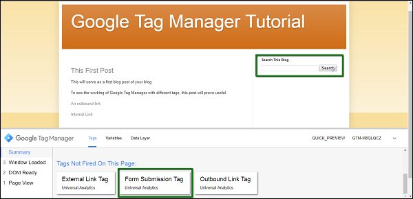 Google Tag Manager Track Tags