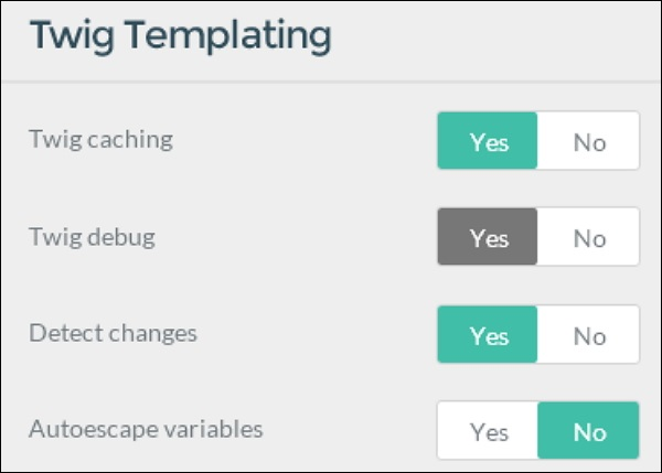 twig template variables - grav configuration system