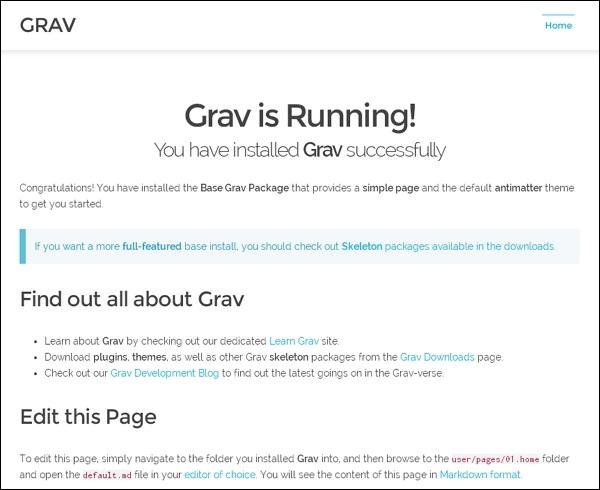 Grav - Quick Guide