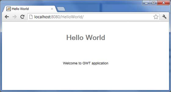 GWT Application Result3