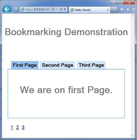 GWT Bookmarking Demo