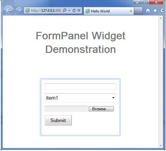 Form control enable/disable sample (smart gwt): form « gwt « java.