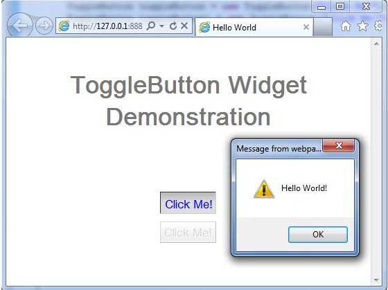GWT - ToggleButton Widget - Tutorialspoint