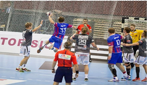 Professional Handball playing.