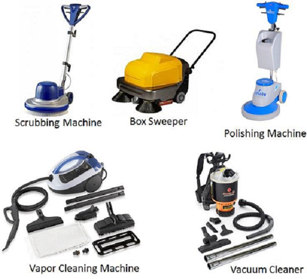 Electric Cleaning equipment. Hotel Housekeeping Cleaning Equipment