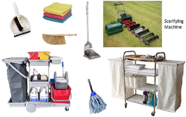 Manual Cleaning equipment. Hotel Housekeeping Cleaning Equipment