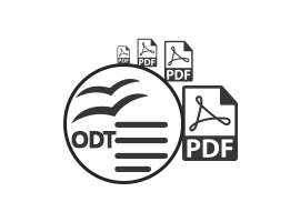 Convert ODT to PDF Files