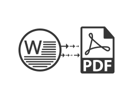 Convert Word to PDF Files