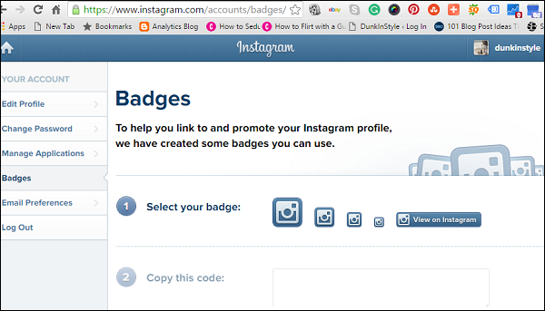 Create and Embed Badges