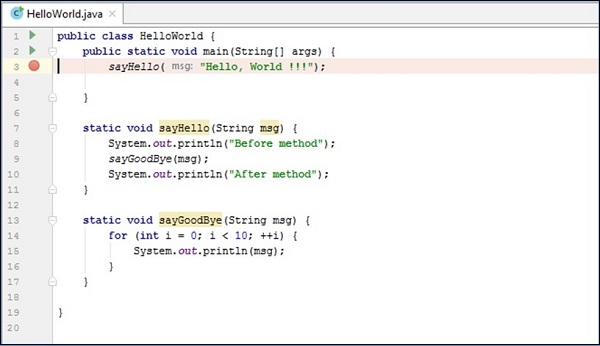 Intellij Idea - Debugging - Tutorialspoint