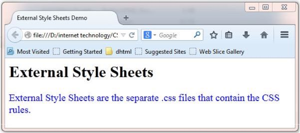 how to create separate css file