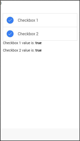 Ionic Checkbox checked