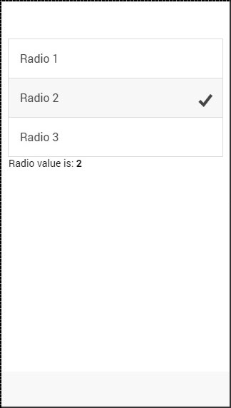 Ionic Radio checked