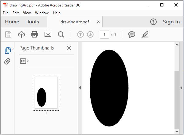 iText - Drawing an Arc - Tutorialspoint