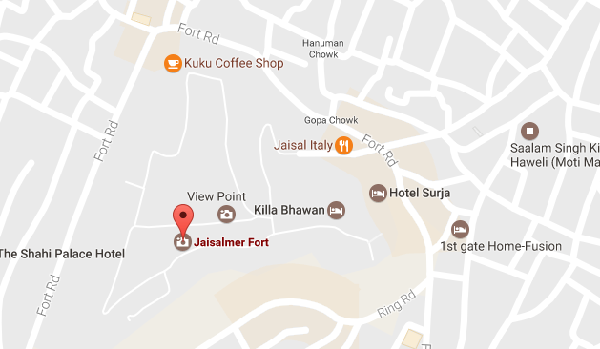 Jaisalmer Fort Location