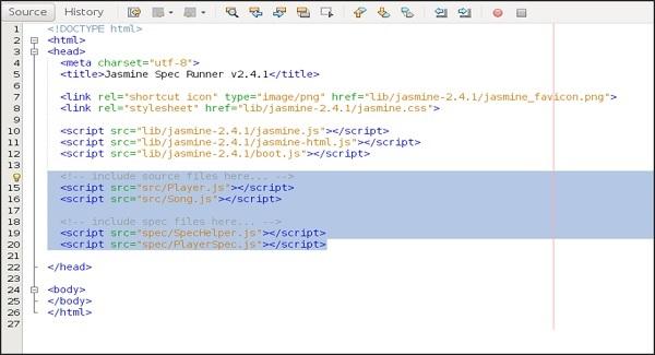 SpecRunner Html File