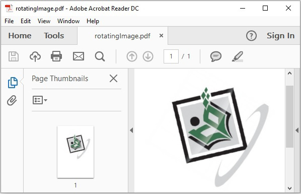 Rotate Image in PDF