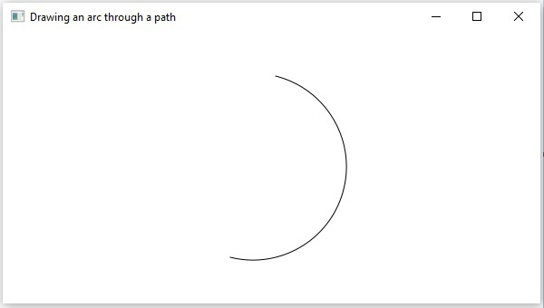 Drawing Arc Path