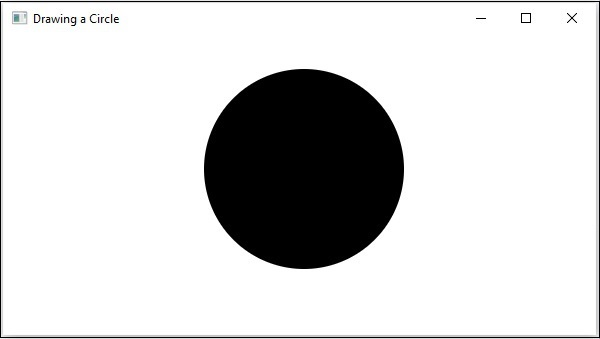 تعلم JavaFx ..مقال 28_ التعامل مع الرسوم ثنائية الابعاد JavaFX 2D Shapes Drawing_circle