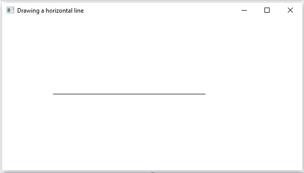 Drawing Horizontal Line