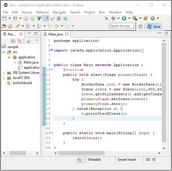 JavaFX - Environment