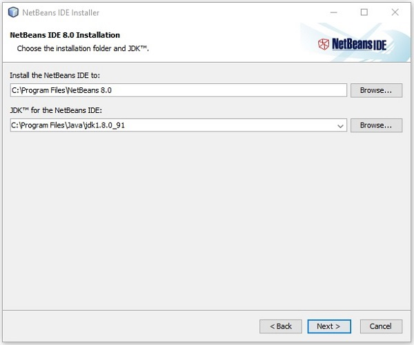 NetBeans Installation Next