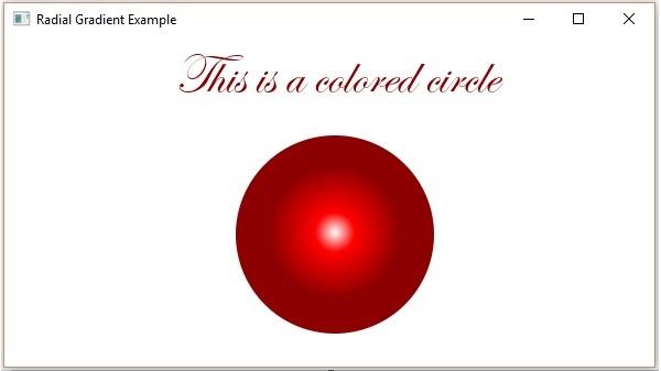 تعلم JavaFx ..مقال34_ التعامل مع الالوان JavaFX - Colors Radial_gradient
