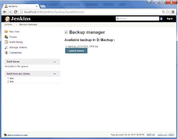Jenkins - Backup Plugin - Tutorialspoint