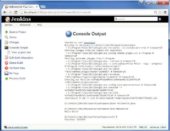 Console Output2
