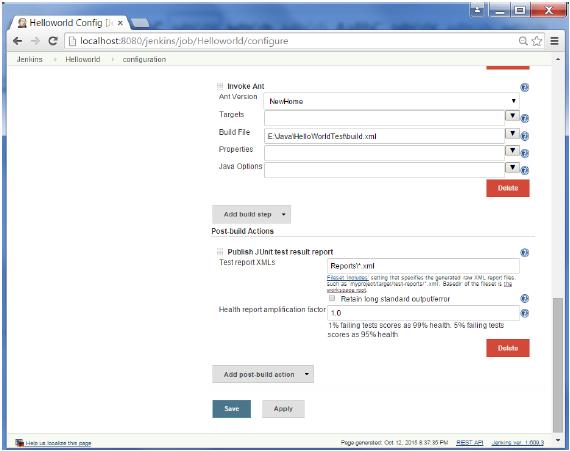 Report Test XML