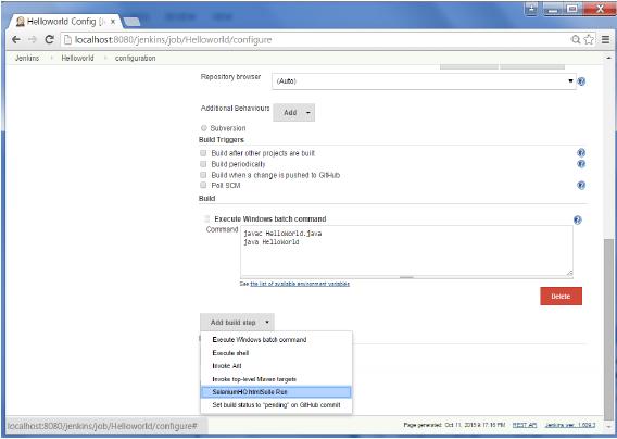 SeleniumHQ htmlSuite Run