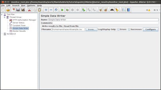Monitor Simple Data Writer