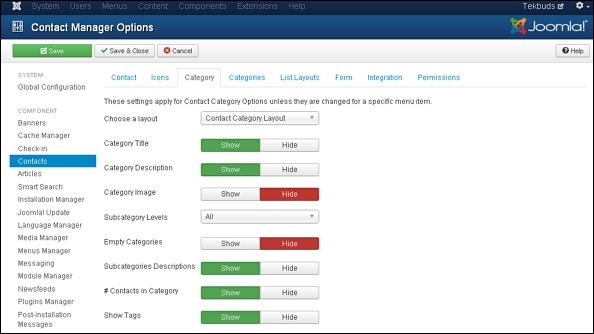 Joomla Adding Contacts