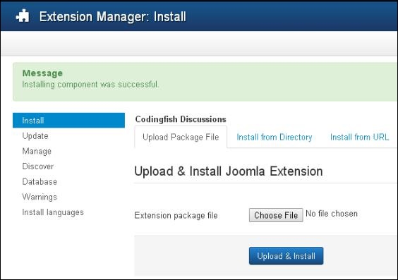 Joomla Adding Forum