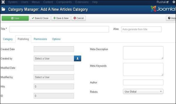 joomla Category Management