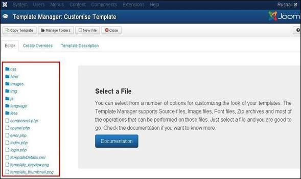 joomla Customize Template