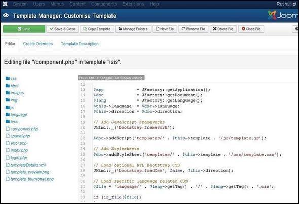 Joomla Customize Template
