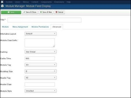 Joomla Feed Display Module