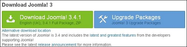 Download Joomla Setup