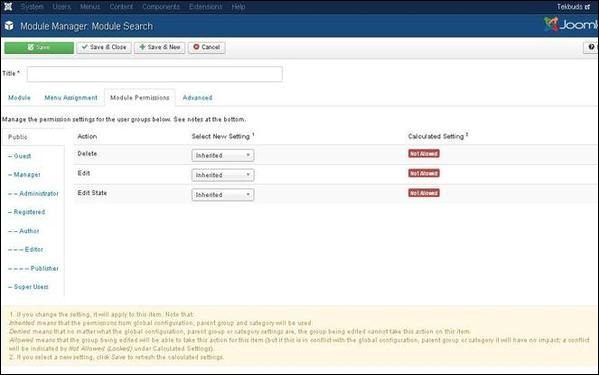 Joomla Search Module
