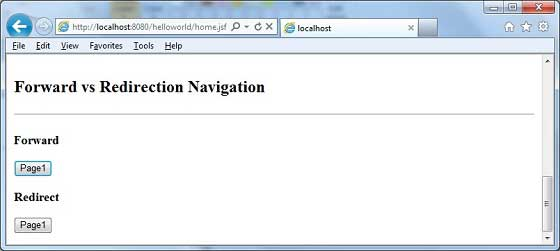 JSF - Page Navigation - Tutorialspoint