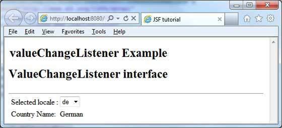 JSF - valueChangeListener