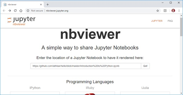Jupyter - Quick Guide - Tutorialspoint
